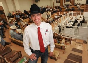World champion auctioneer moves beef in Billings