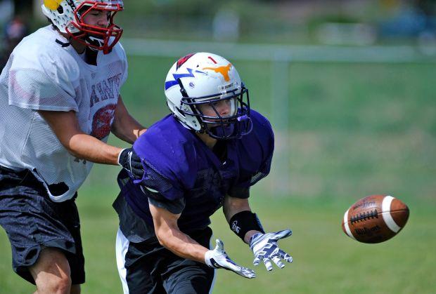 Luke Schwagler hauls in a pass