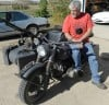 Mechanic Bob Clement got a World War II motorcyle running
