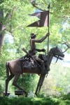 Lyndon Pomeroy's sculpture of a Seventh Cavalry trooper