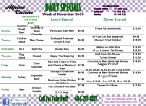 Daily Specials November 17-23