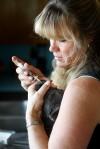 Sheri Lee gives a bordatella vaccine