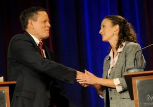 Daines ignores aggressive attacks from Curtis in first debate
