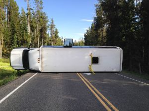 8 people hospitalized in Teton Park bus crash
