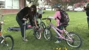 Bikes get tuned up as part of bike to school week