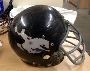 Wyoming football helmets through history