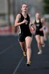 Nicole Rietz heads to the finish line