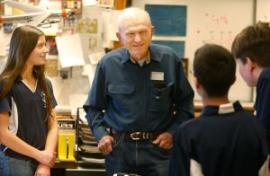 Apollo astronaut talks engineering, annunciation with Will James students