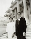 U.S. Senator Max Baucus with Billings Senior High School graduate Hillary Smith