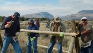 Volunteers improve access site outside Cody