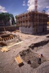Work on basement and lower floors, June, 1984
