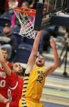 Taylor Stevens of Montana State Billings scores a basket