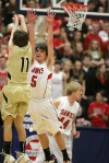 Parker Swenson of Billings West attempts a shot