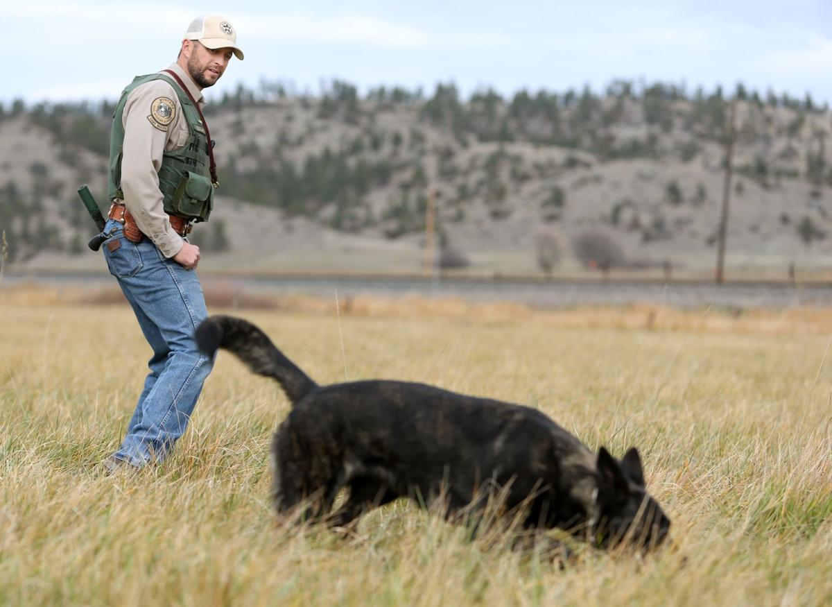 Oola the warden dog to meet walleyes unlimited outdoors for Montana game and fish