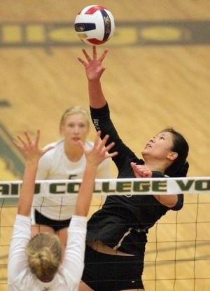 Rocky volleyball tightens grip at No. 1