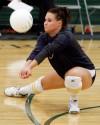 Clarissa Ferguson digs a ball