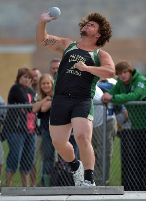 Colstrip's Yates 3-peats in shot put with record heave