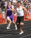 Senior's Nolan Saraceni won the 100