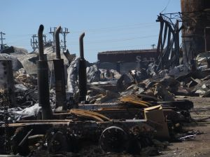 North Dakota industrial fire cleanup to take weeks