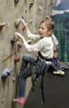 Abby Robbins climbs the wall