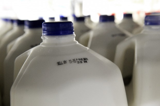 Sell by date on milk