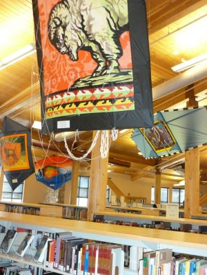 Flying Buffalo kites come to Crow Agency for reception