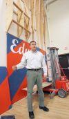 Superintendent Dan McGee and climbing wall