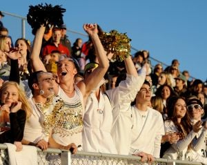 West students cheer on their team