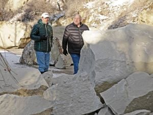 Billings street cleared after rock slide