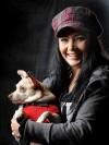 Bobbi Jo Sangray holds therapy dog Molly