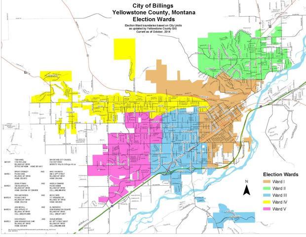 Council Ward Map Billingsgazette Com