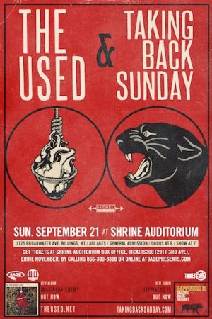 The Used and Taking Back Sunday at the Shrine