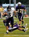 Cody's Noah Rivera pushes down the field