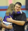 Todd Nevin hugs his daughter
