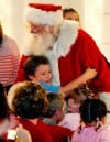 Kids rush to greet Santa