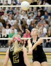 Laurel's Ellie Pfeifer bumps the ball