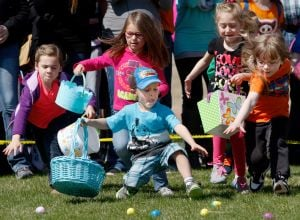 Kids fill their baskets with candy, prizes at Easter-related events