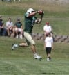 Cole Cattelan catches a pass