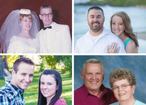 January engagements, weddings and anniversaries