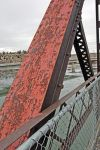 Peeling paint on Bundy Bridge