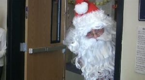 Santa Claus makes surprise visit