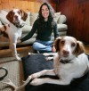 Stephanie Naftal with her two Brittany Spaniels