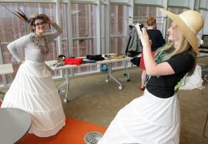 Period clothing helps students learn about the Civil War