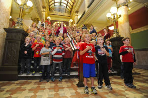 Celebrating the Constitution: Students lead patriotic ceremony in Capitol rotunda