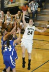 Brianna Robinson of Billings West attempts a shot