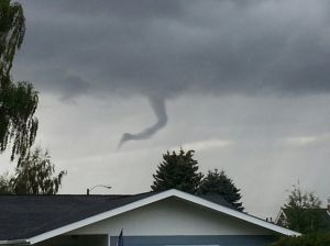 Feature photo: Funnel-like cloud over Butte