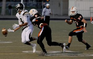 West's Chaz Maddock fumbles the ball