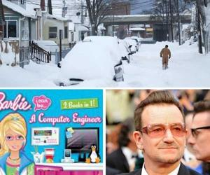 Today's six-pack: Bono's bike wreck, Barbie apology and Mike Nichols dies