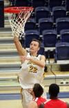 Cameron Cusworth, 22, puts up a shot