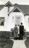 Lillie, Lois and Ingvald Anderson, 539 Yellowstone Ave., c. 1935